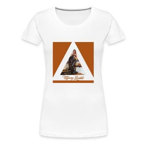 Triangle cuir - T-shirt Premium Femme