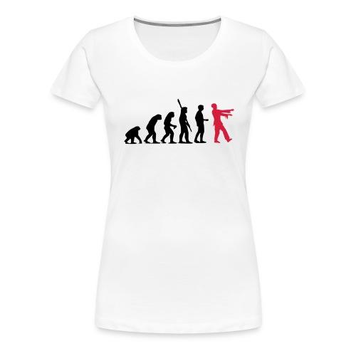 Zombie Evolution (zweifarbig) - Frauen Premium T-Shirt