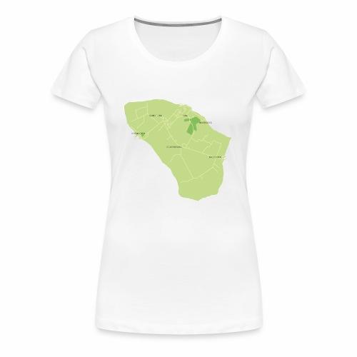 Hven den skønne ø mellem Sverige og Danmark - Dame premium T-shirt