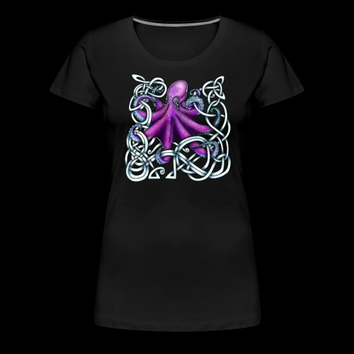 Celtic Octopus - Purple - Women's Premium T-Shirt