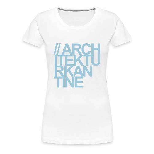 Architekturkantine Quadrat - Frauen Premium T-Shirt