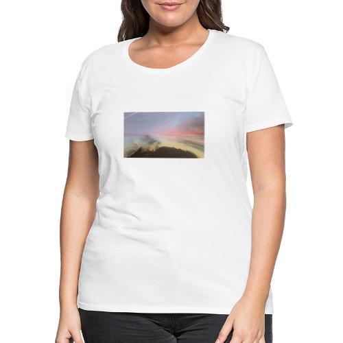 pink sky - Dame premium T-shirt
