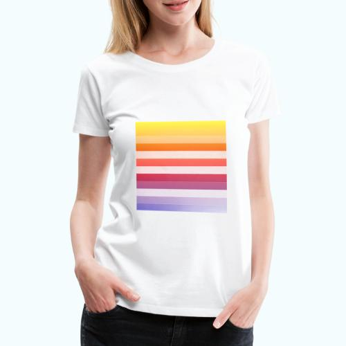 Rainbow Abstract Acrylic Painting - Women's Premium T-Shirt