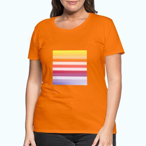 Rainbow Abstract Acrylic Painting - Women's Premium T-Shirt