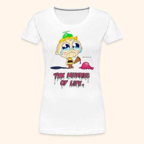 The Miseries of Life Eiscreme Eis Kind - Frauen Premium T-Shirt
