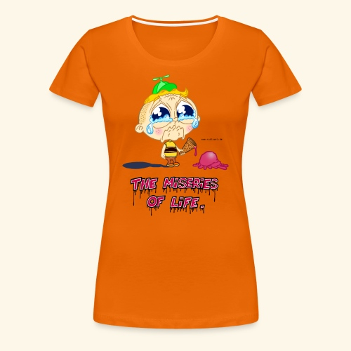 The Miseries of Life Eiscreme Eis Kind - Frauen Premium T-Shirt