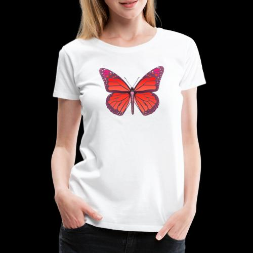 D28 monarch butterfly red lajarindream 4500px - Camiseta premium mujer