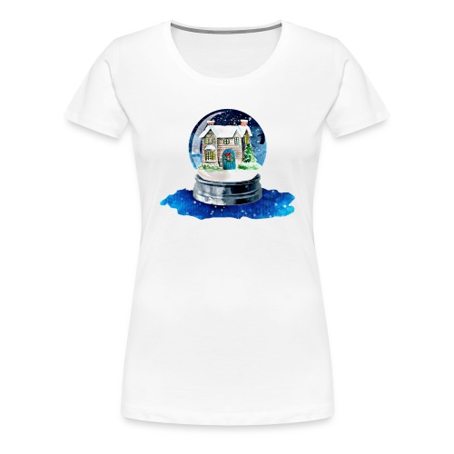 Weihnachten Winterhaus - Frauen Premium T-Shirt