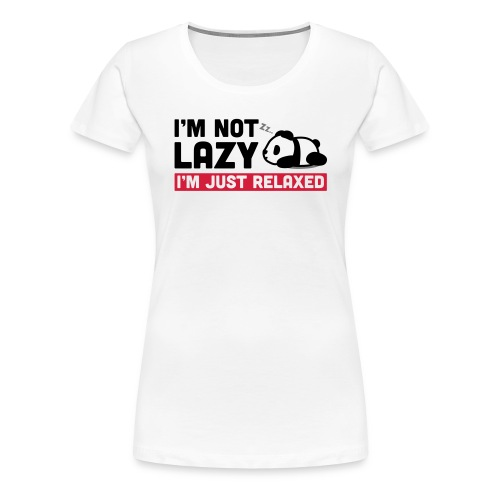 Relaxed Panda - Frauen Premium T-Shirt