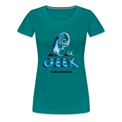 arobase wave noir - T-shirt Premium Femme