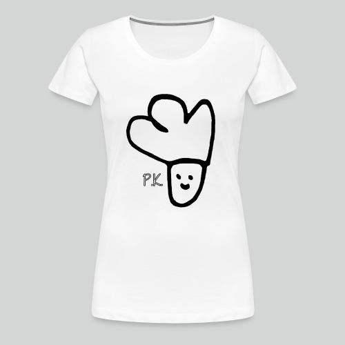 P K Schwarz Handyhülle Copy png - Frauen Premium T-Shirt