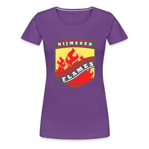 Hoodie Black - Red inner contrast - Vrouwen Premium T-shirt