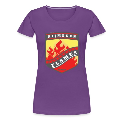 snapback pet rood/zwart combi - Vrouwen Premium T-shirt