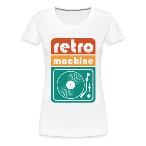 Coole T-Shirts | retro machine | retro Farben rund - Frauen Premium T-Shirt