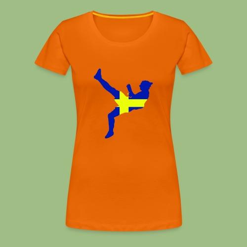 Ibra Sweden flag - Premium-T-shirt dam