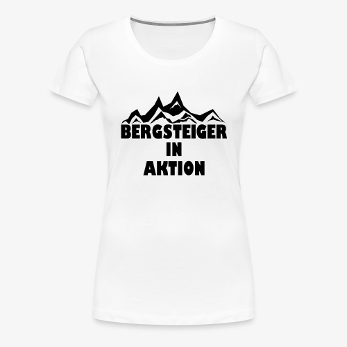 Bergsteiger in Aktion - Frauen Premium T-Shirt
