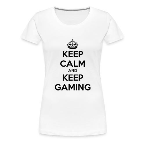 keep calm and keep gaming - Women's Premium T-Shirt