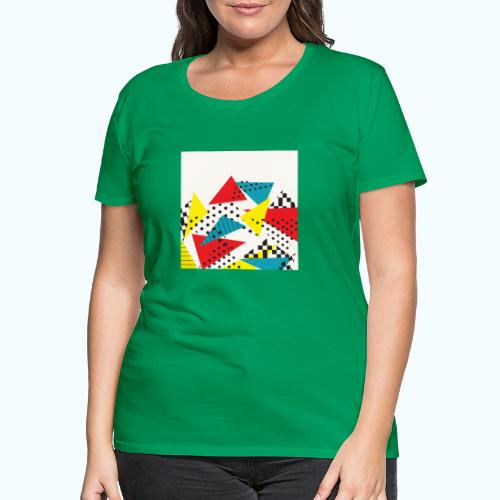 Abstract vintage collage - Women's Premium T-Shirt