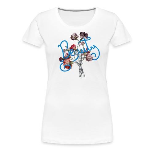 Typographie du mot beauté en anglais - T-shirt Premium Femme