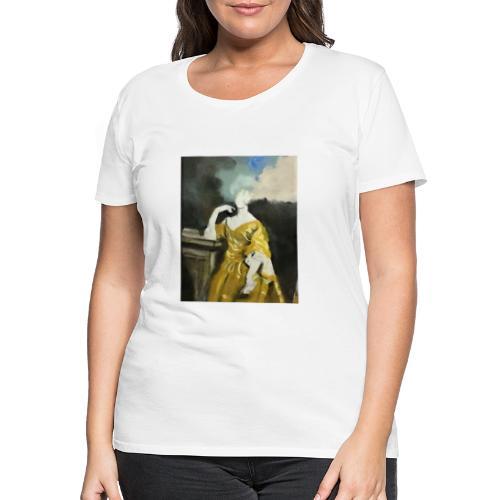 Donna sognatrice, in giallo. Arte da indossare. - Maglietta Premium da donna
