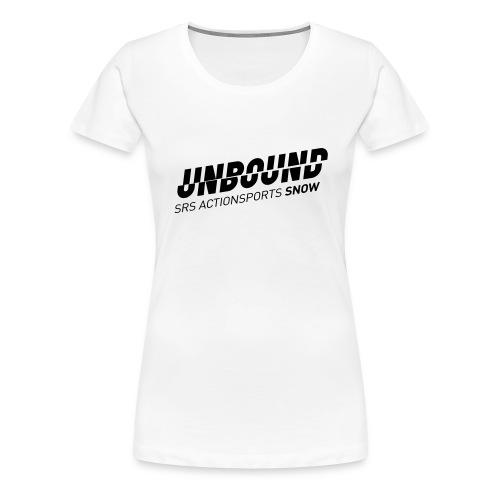 UNBOUND_SNOW_WEISS - Frauen Premium T-Shirt