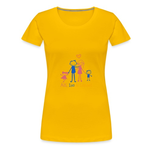 Äiti Isa Lapset - Naisten premium t-paita