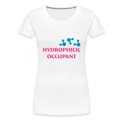 Hydrophilic Occupant (2 colour vector graphic) - Women's Premium T-Shirt