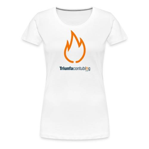 triunfacontublogcom logo fire camiseta 8 dominio - Camiseta premium mujer