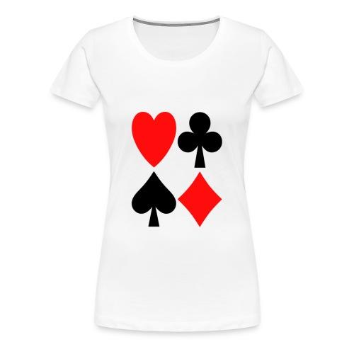 Kartenblatt - Frauen Premium T-Shirt