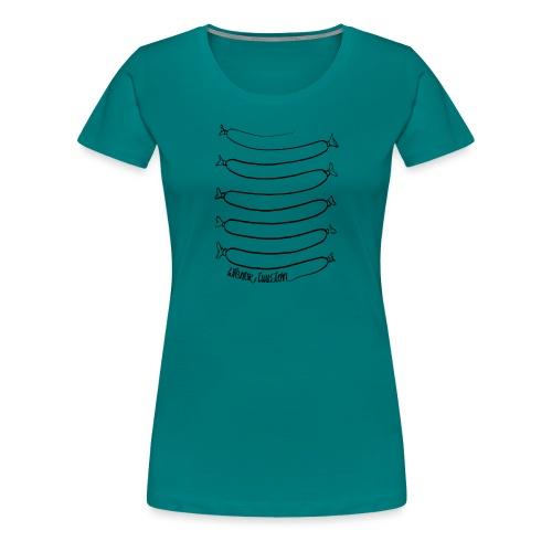 Wiener Illusion (schwarz auf weiß) - Frauen Premium T-Shirt