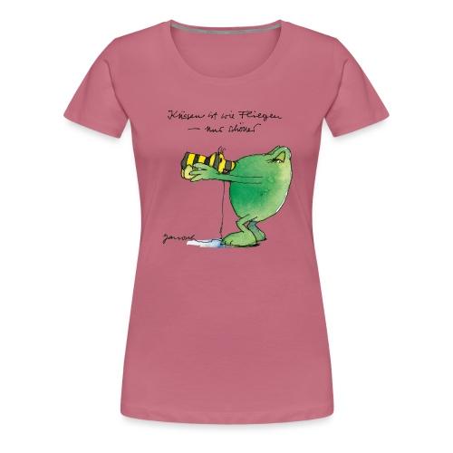 Janosch Frosch 'Küssen ist wie ...' - Frauen Premium T-Shirt