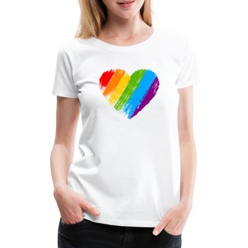 Pride, fram och bak, svart text - Premium-T-shirt dam