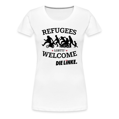 Refugees welcome kleiner - Frauen Premium T-Shirt