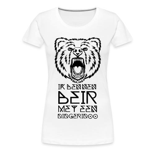 Beir met didgeridoo - Vrouwen Premium T-shirt