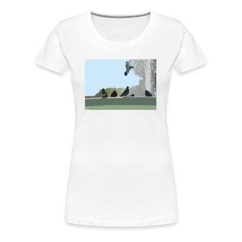 Chillin' pigeons - Vrouwen Premium T-shirt