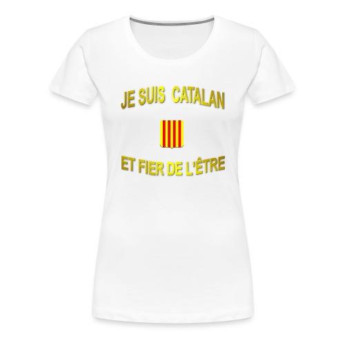 Dessous de verre à l'emblème du PAYS CATALAN - T-shirt Premium Femme