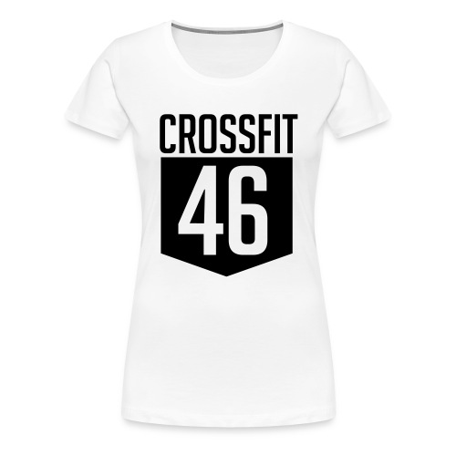 CROSSFIT46 big logo - Premium T-skjorte for kvinner