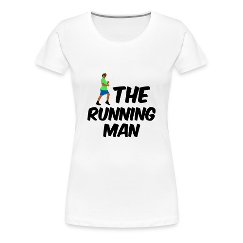 The Running Man Light Blue Short - Women's Premium T-Shirt