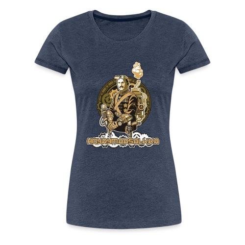 Höyrymarsalkan upea kangaskassi - Naisten premium t-paita