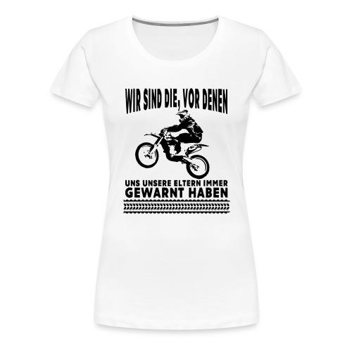 Motocross - Frauen Premium T-Shirt