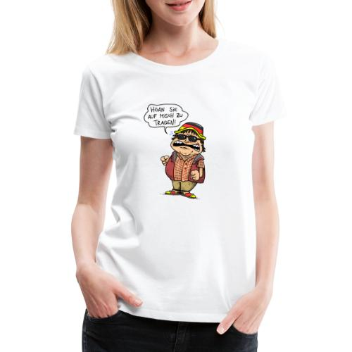 Hutbürger tragen Button - Frauen Premium T-Shirt