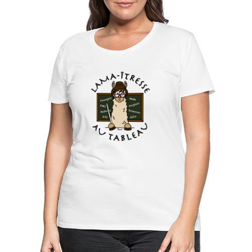 Lama-îtresse, tableau, maîtresse, cadeau, vacances - T-shirt Premium Femme