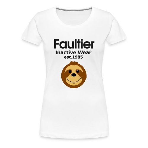 Faultier lustige coole Sprüche Sport Gym Yoga Teen - Frauen Premium T-Shirt