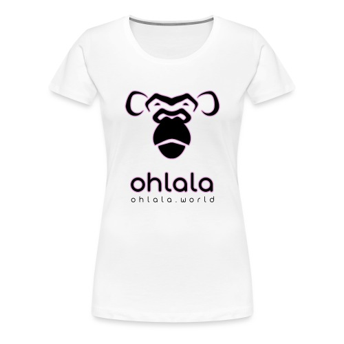 Ohlala Black & Pink - T-shirt Premium Femme
