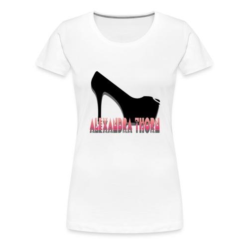 high heel floral - Vrouwen Premium T-shirt