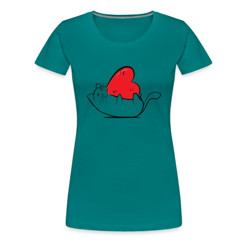 Cat Love - Vrouwen Premium T-shirt