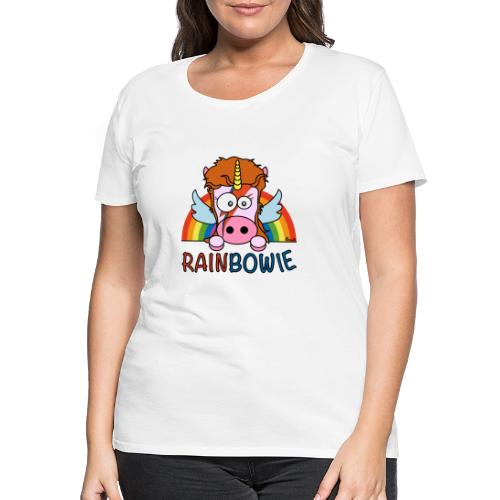 Licorne RainBow Bowie - T-shirt Premium Femme