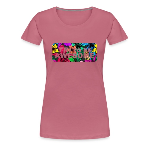 Tri to be Awesome Dschungel Block - Frauen Premium T-Shirt