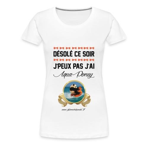Jean Michel Aqua Poney - T-shirt Premium Femme