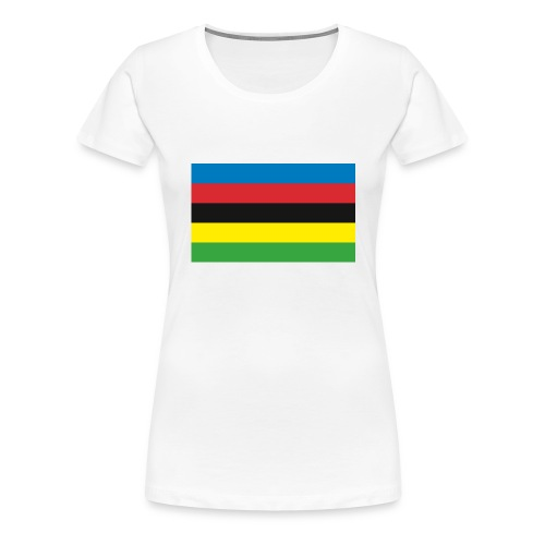 Cycling_World_Champion_Rainbow_Stripes-png - Vrouwen Premium T-shirt